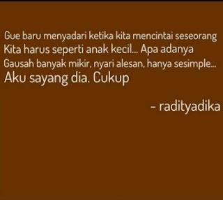 kata kata raditya dika tentang cinta