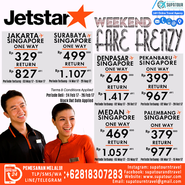 Jetstar Weekend Fare Frenzy