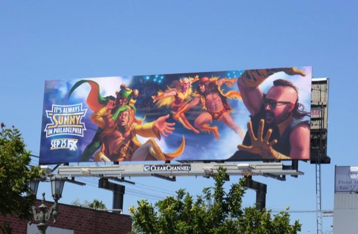 Always Sunny Philadelphia season 14 billboard