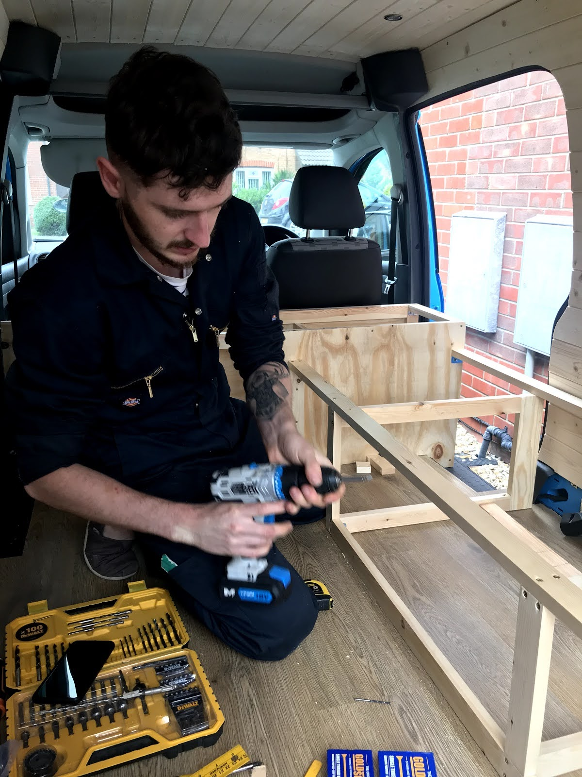 Building a campervan conversion slide out bed