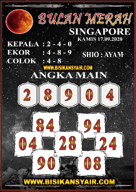 Kode syair Singapore Kamis 17 September 2020 109