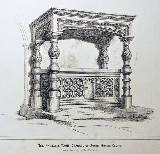 A drawing of The Nameless Tomb by Miss E C Wilde