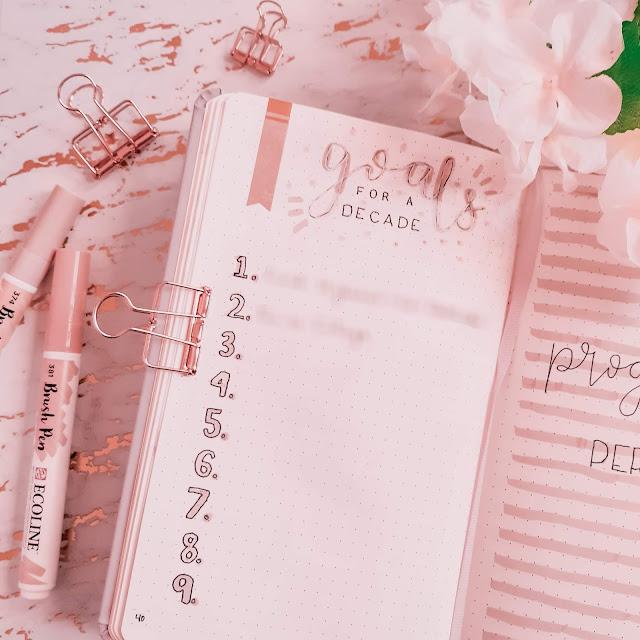 Using Ecoline Brush Pens in My Bullet Journal