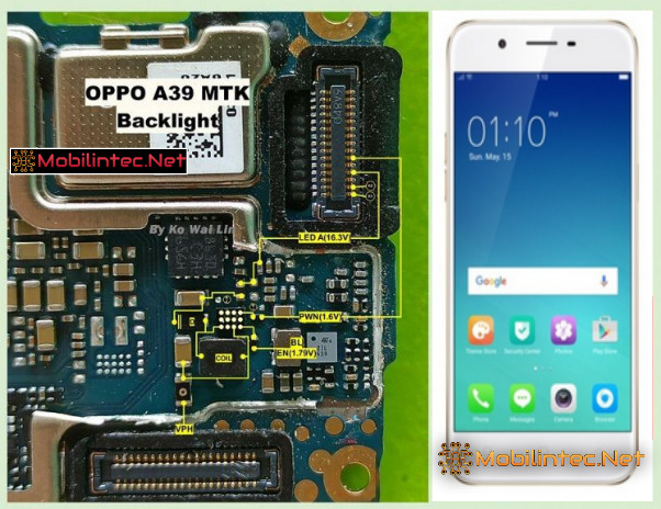 3 Step Repair Damage Oppo A39 No Backlight Display