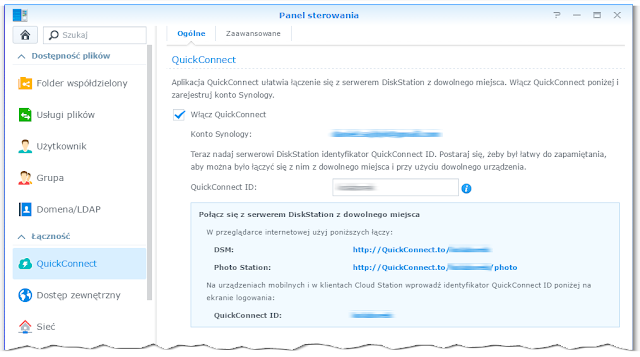 Funkcja QuickConnect w Synology DS216j
