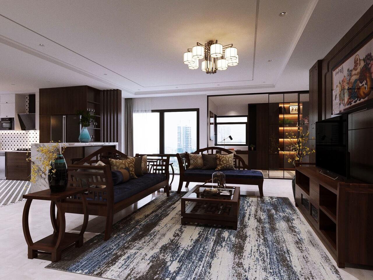 Nội thất căn hộ 1701 dự án Amber Riverside