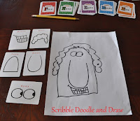 Learn to draw cartoons card game for children