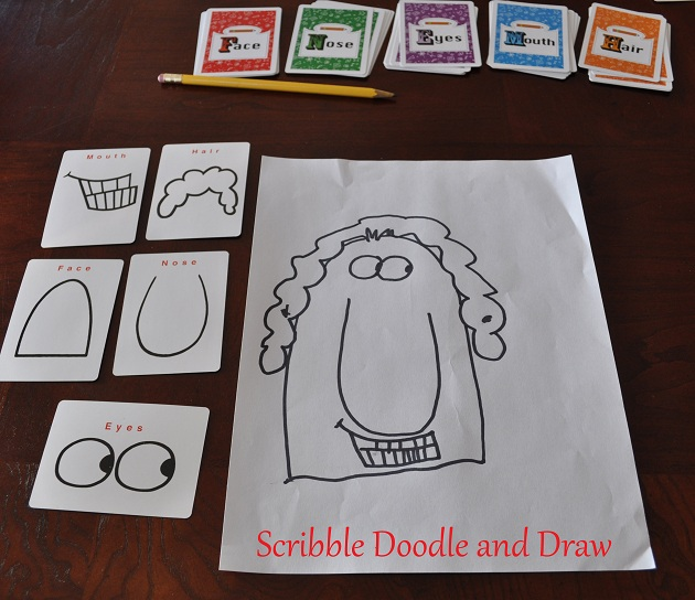 Scribble Drawing Game : Teach kids how to draw cartoons with a fun card game