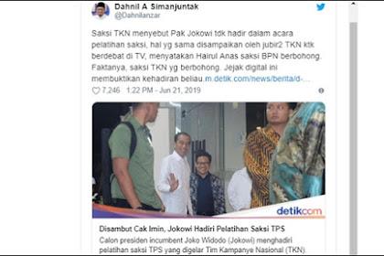 Jokowi Diklaim Tak Hadiri Pelatihan Saksi, BPN Bongkar Jejak Digital