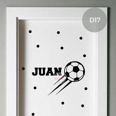 Vinilos para puerta de dormitorio de varon futbol avion - Vinilos en puertas ...