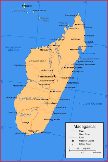 image: Madagascar Map Africa