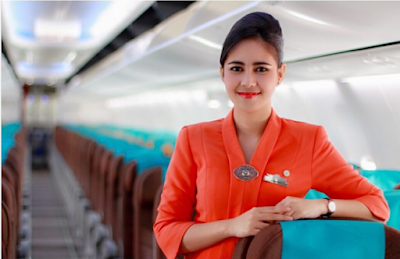 Bekerja sebagai pramugari penerbangan