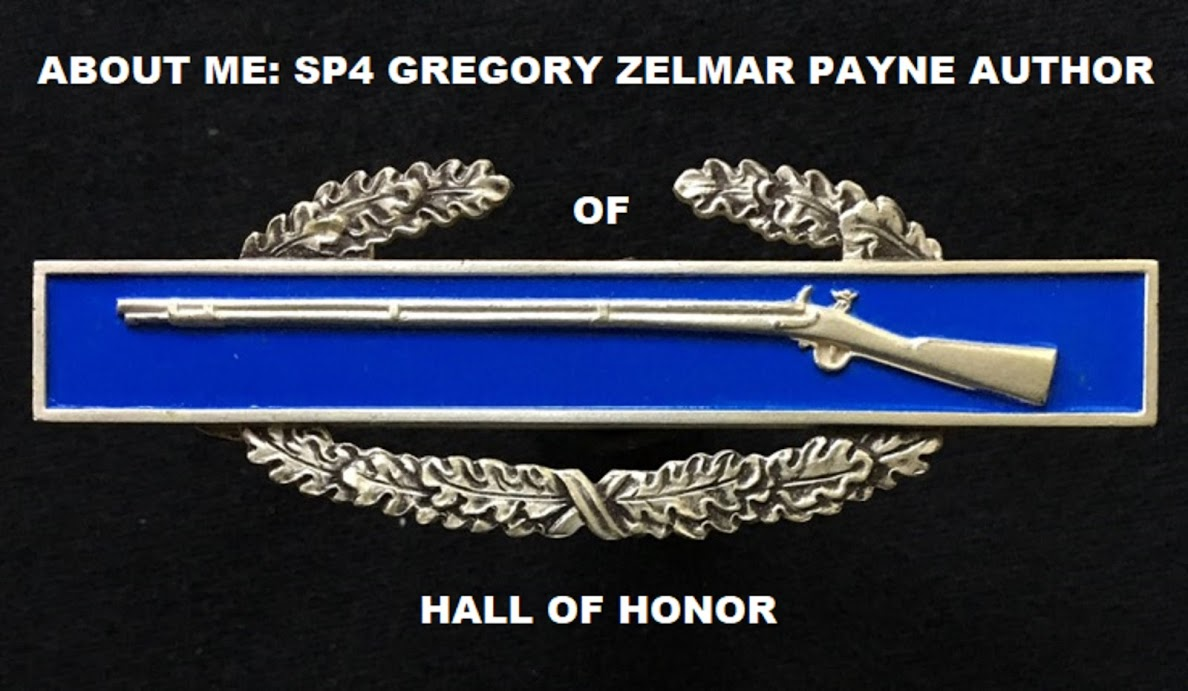 ABOUT ME: SP4 GREGORY PAYNE AUTHOR OF HALL OF HONOR