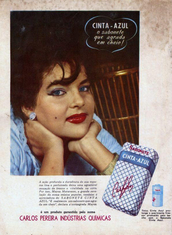 Propaganda antiga do Sabonete Cinta Azul veiculada no final dos anos 50