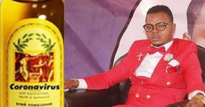 Bishop Obinim launches coronavirus anointing oil, sells to his church members for ₦13,000