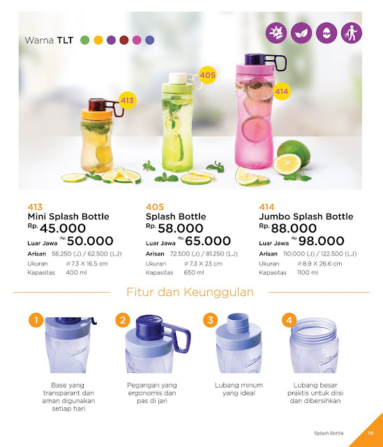 Katalog Twin Tulipware 2019-2020 : Mini Splash Bottle, Splash Bottle, Jumbo Splash Bottle
