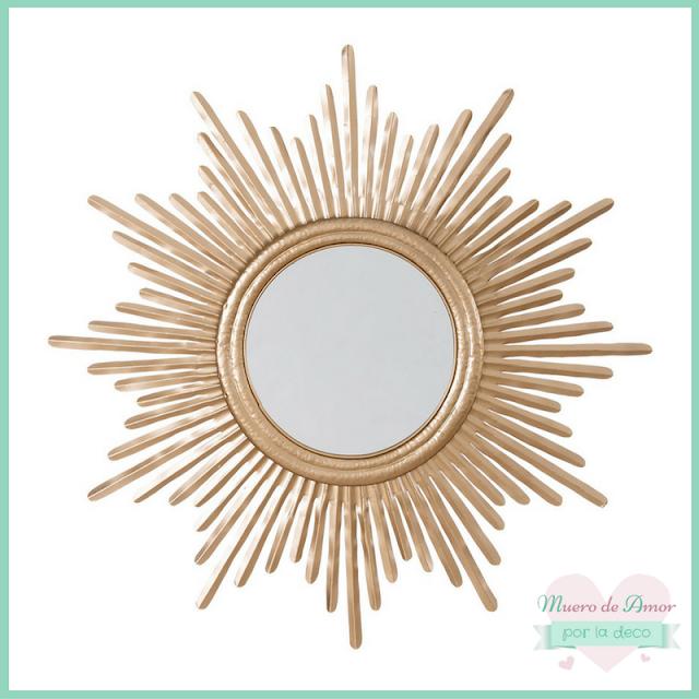 Espejos dorados para decoración de tiendas