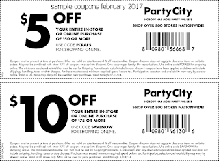 Party City coupons for february 2017