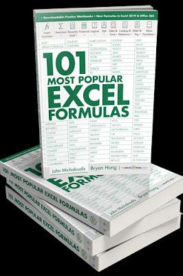 [New 2020 free PDF ebook]101 Most Popular Excel Formulas by John Michaloudis, Bryan Hong