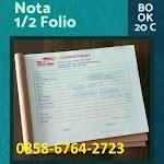 Percetakan Nota 085867642723 di Magelang, Yogyakarta