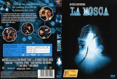 Carátula dvd: La mosca 1986