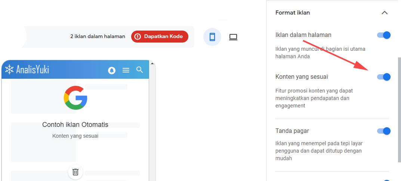 Cara Mudah Mendapatkan Iklan Matched Content Google AdSense