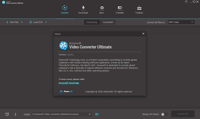 Screenshot Aimersoft Video Converter Ultimate 11.7.1.4 Full Version