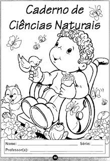 Capa de caderno ciências naturais