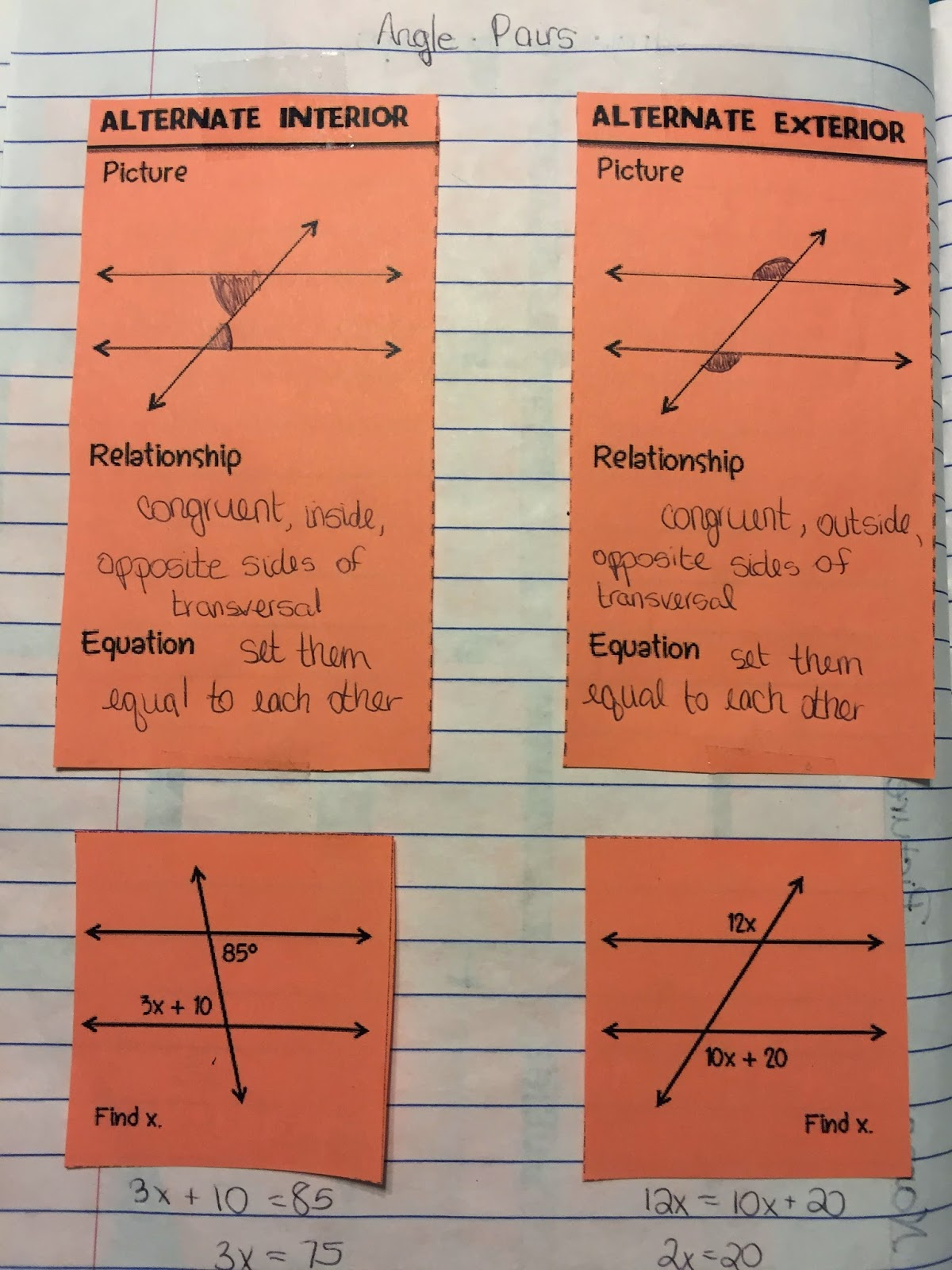 Misscalcul8 Geometry Unit 3 Angles And Lines Interactive