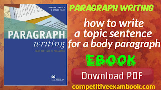 Paragraph writing: how to write a topic sentence for a body paragraph ebook