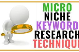 Micro Niche Blog Keyword Research Technique For Blogger   Tech Multan