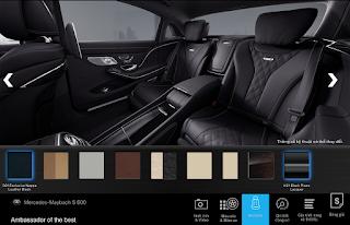 Nội thất Mercedes Maybach S600 2016 màu Đen (501)