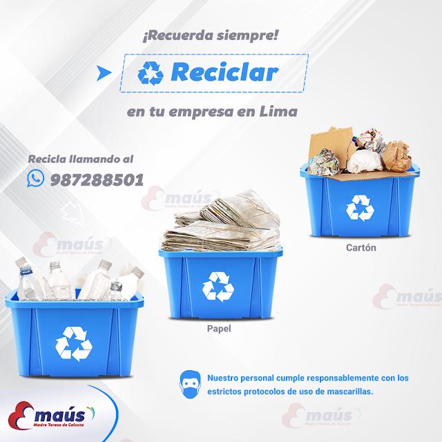 Recuerda siempre Reciclar