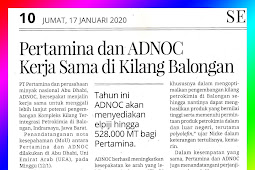 Pertamina and ADNOC Work in Balongan Refinery