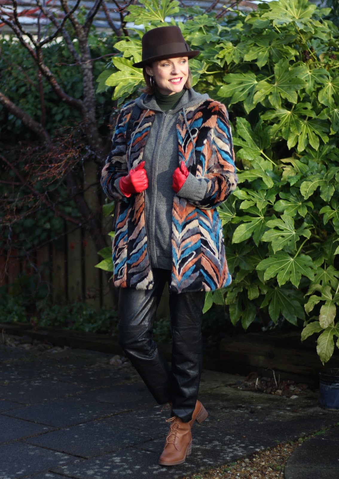 Spring Trend inspired Winter Outfit | Double Leather & Faux Fur