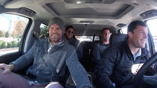 Shannon Reilly's husband Luke Kuechly driving car with his friends