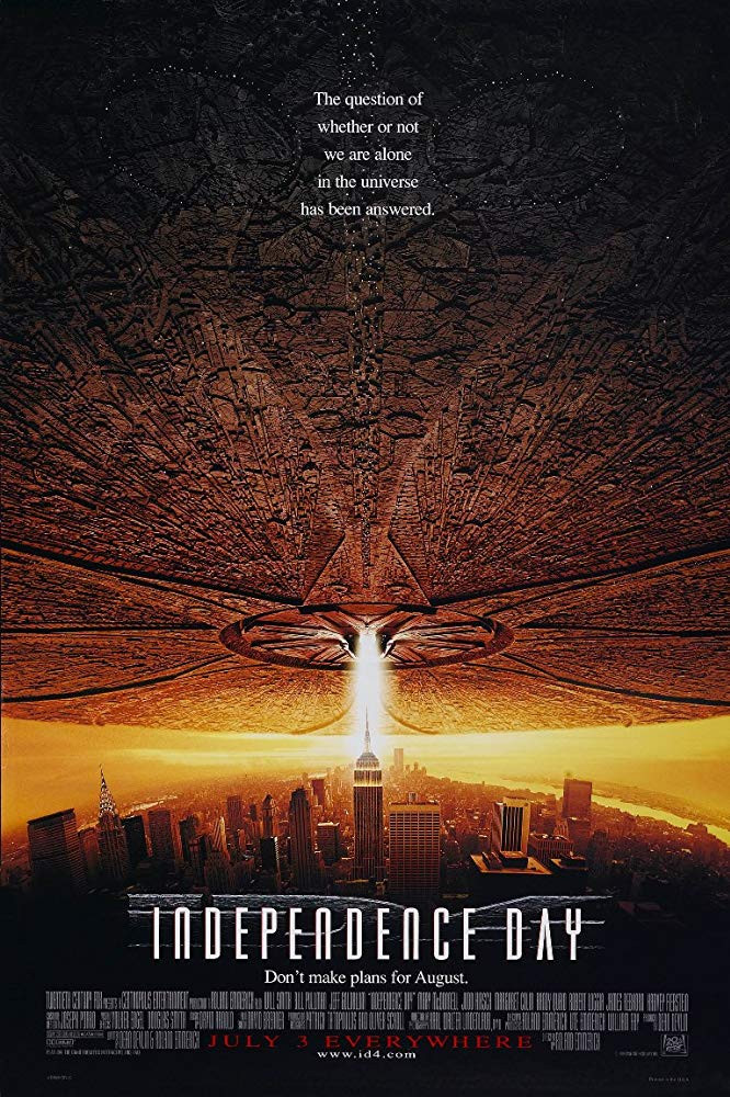 Independence Day 1996 Hindi Dual Audio 900MB BluRay ESubs Download
