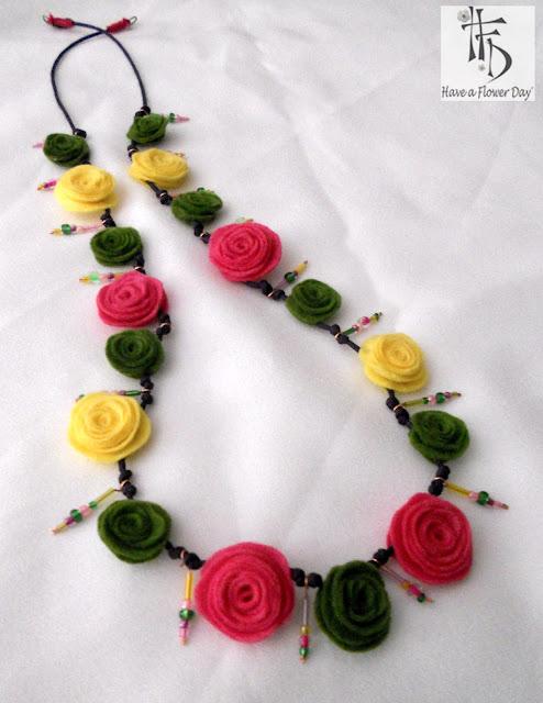 BOMAREA. Collar con Inspiración Floral / Floral Inspiration Necklace