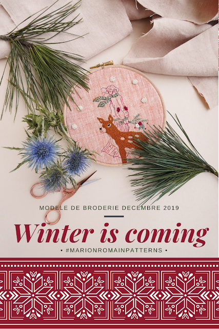 Winter is coming, modèle de broderie #MarionRomainPatterns