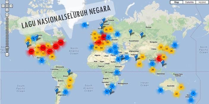 Daftar Lagu Nasional Kebangsaan Negara Seluruh Dunia Lengkap Dengan Nama Pencipta