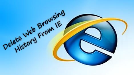 delete IE web history