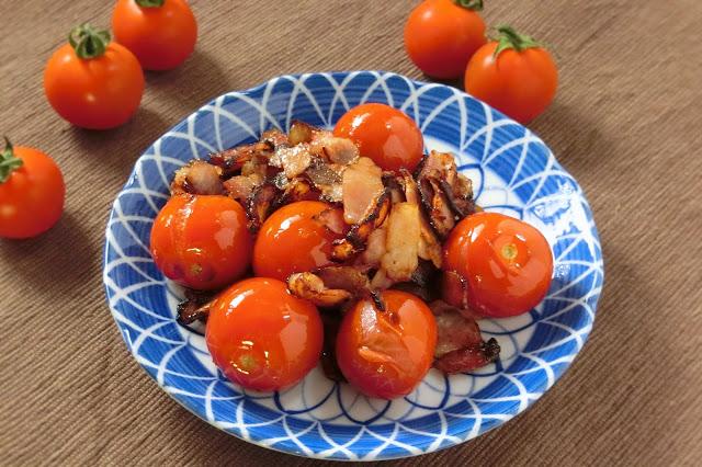 味付けはポン酢だけ!チェリートマトとベーコンのポン酢炒めレシピ
