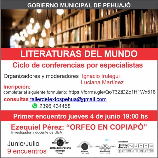 """Ciclo de conferencias por especialistas: """"Literaturas del mundo"""""""