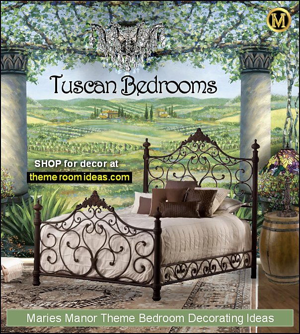 tuscan bedroom decorating tuscan bedroom furniture tuscan wall mural iron beds wine barrel table