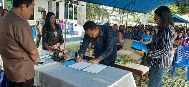 Kec Malalayang Gelar acara Pisah Sambut serta penyerahan Inventaris dari Camat Deysi ke Camat Heydemans