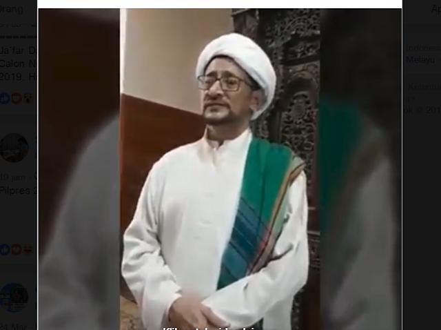 Habib Ja'far Ahmad Salim Alkaff mendukung Penuh Jokowi-KH Maruf Amin