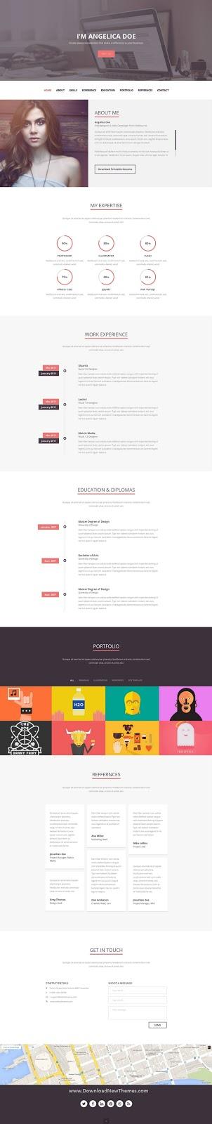 CV Resume HTML Template