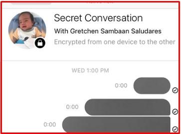 how to send secret messages on facebook
