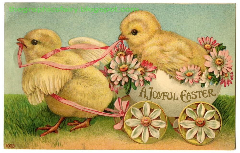 PINK PAPER COTTAGE: EASTER FAVORITE VINTAGE GRAPHICS Easter Clip Art Free Retro