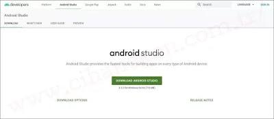 Android Studio indirme sayfası